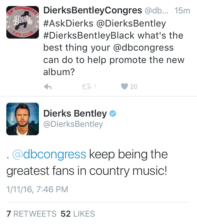dierks chat Listen to slacker radio's dierks bentley: dna internet station more of the artist dna music you love, personalized just for you dierks bentley, brantley gilbert, jason aldean and more.