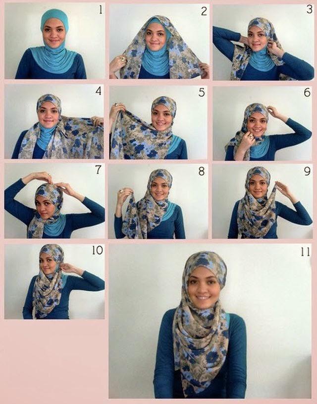 cara memakai jilbab pesta 3