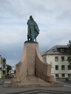 Leifur Eiriksson Statue in Reykjavik, Iceland