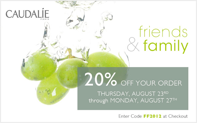 2012 Caudalie Friends & Family Sale
