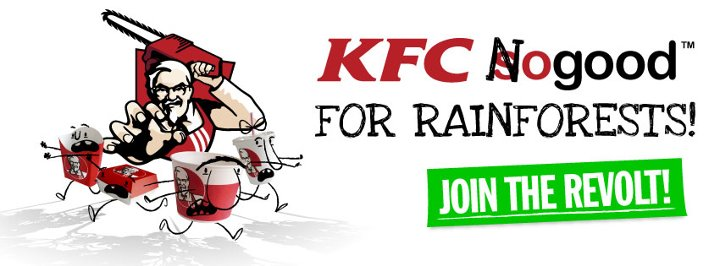 Parallel Universe: KFC threats to turn rainforests into trash!