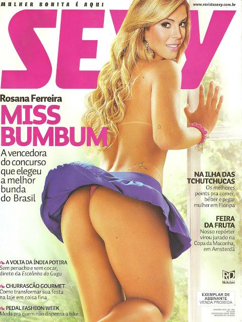 Confira as fotos da Miss Bumbum, Rosana Ferreira, capa da sexy de janeiro de 2012!