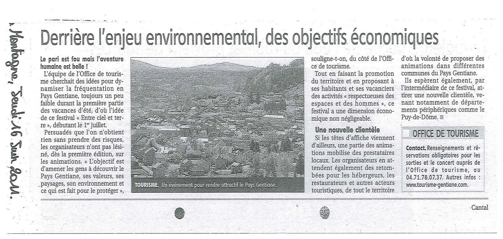 Festival entre ciel et terre articles de presse - Office des oeuvres universitaires pour le centre ...