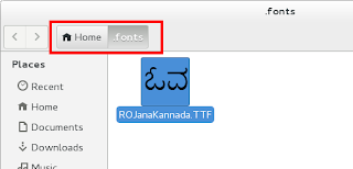 fonts folder with font file