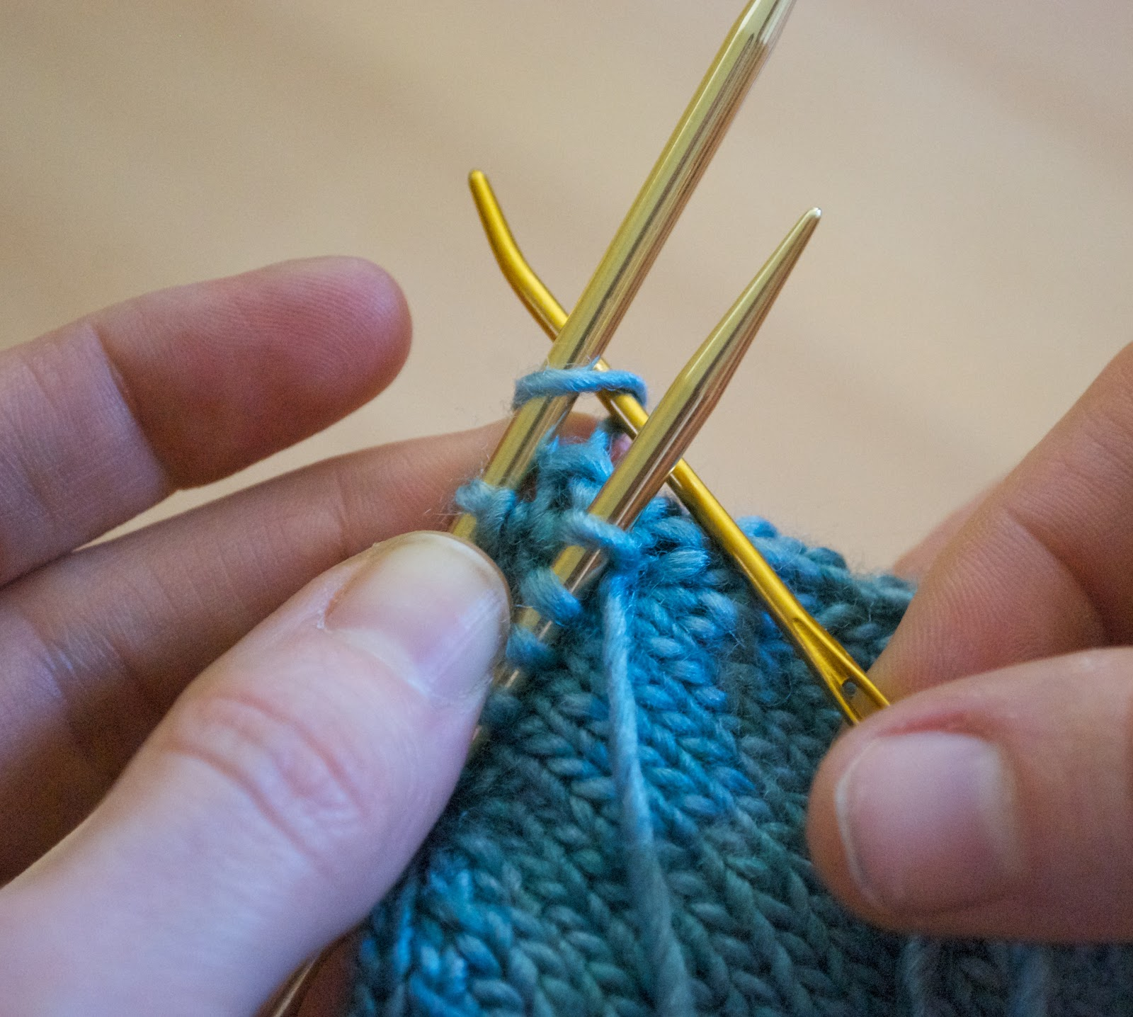 Knitting Kitchener Stitch Grafting : AndreaKnits: Grafting Using Kitchener Stitch