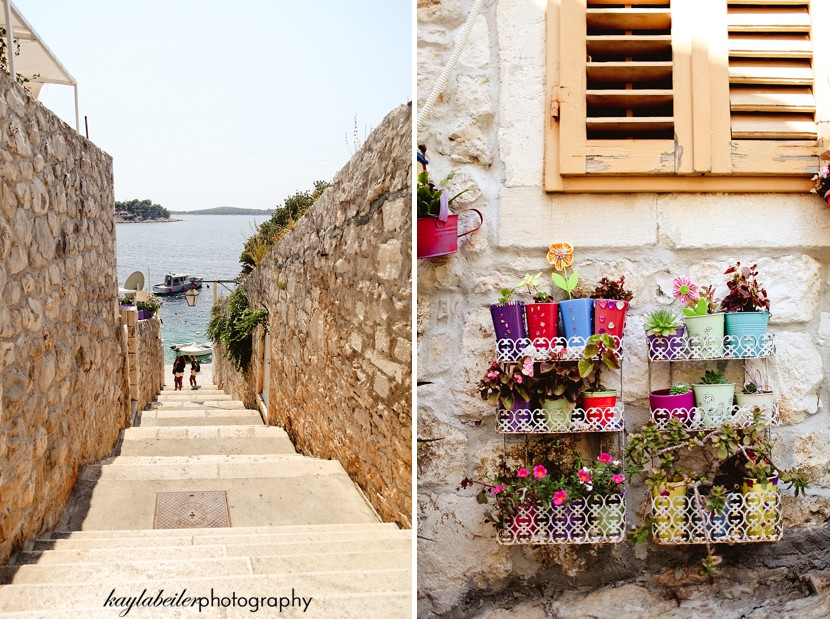 streets of hvar croatia photo