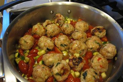 bill granger's spicy chicken meatballs
