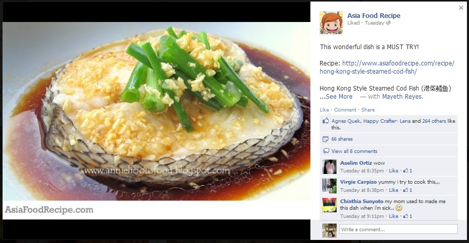Annielicious food july 2012 teowchew style steamed pomfret forumfinder Image collections