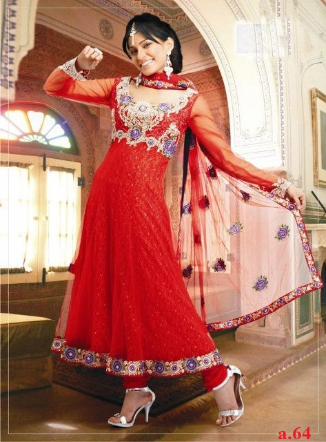 anarkali dress -frock dress pakistani new design 2014 dress number a