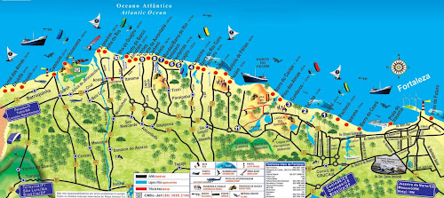 Mapa litoral Oeste do Ceará