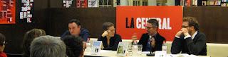 Ferran Ràfols, Laura Huerga (Raig Verd), Jordi Iglesias (Cómplices) y Juan de Sola