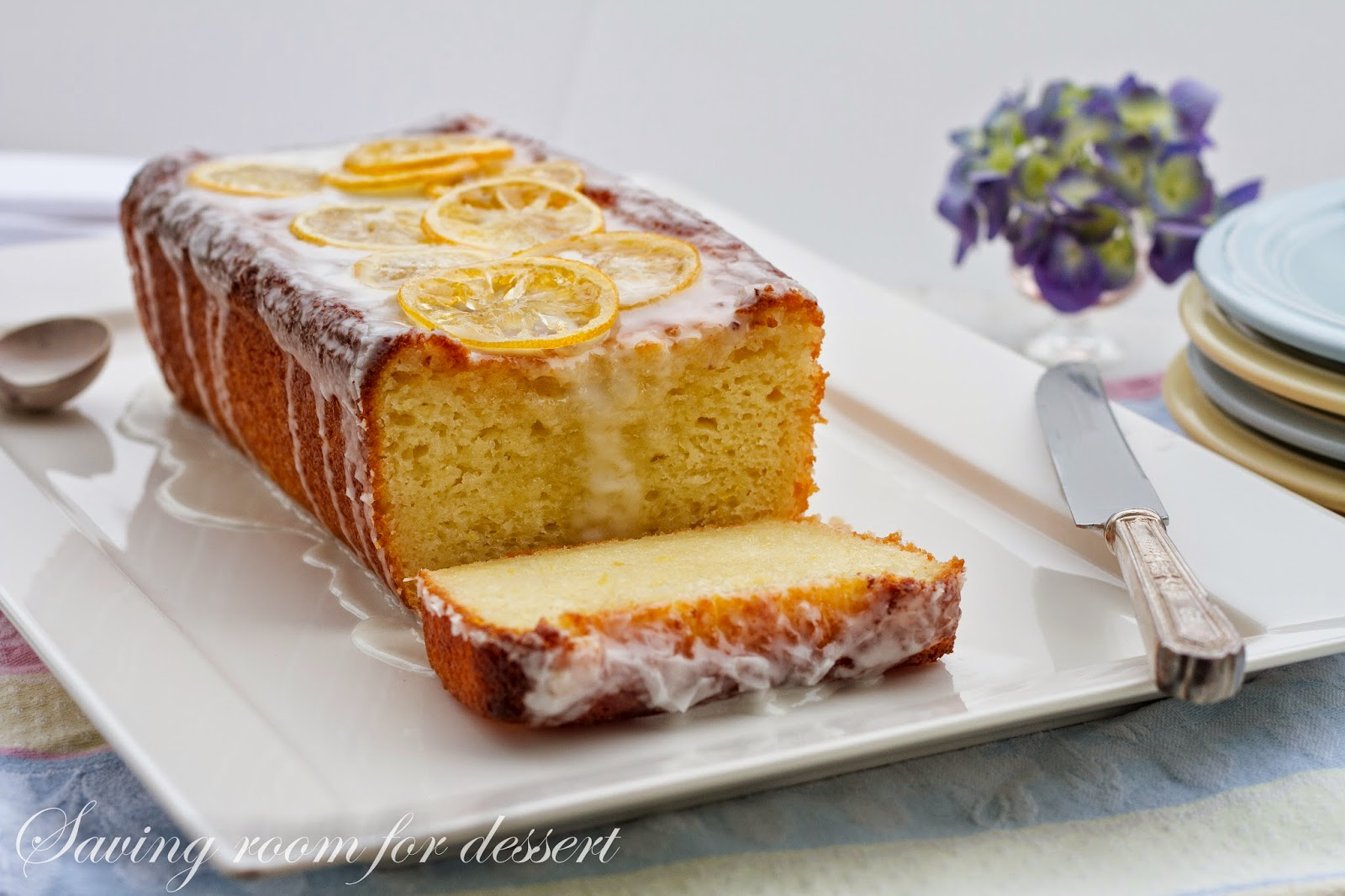 This cake is moist and lemony and melt in your mouth delicious.