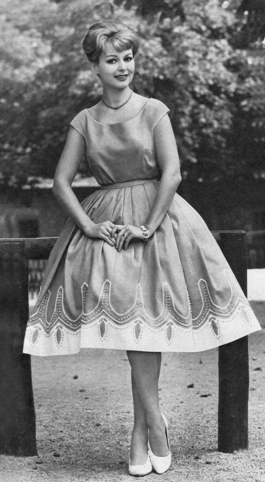 Fantastic ON SALE 1950s Fashion Advertisement Fashion Frocks 623 Navy