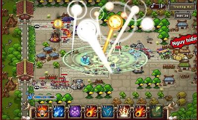 Ngoài ra các tính năng độc nhất vô nhị trong game chiến thuật Tower Defense như An dân, quần anh chiến...sẽ giúp các chúa công khẳng định uy thế của mình.