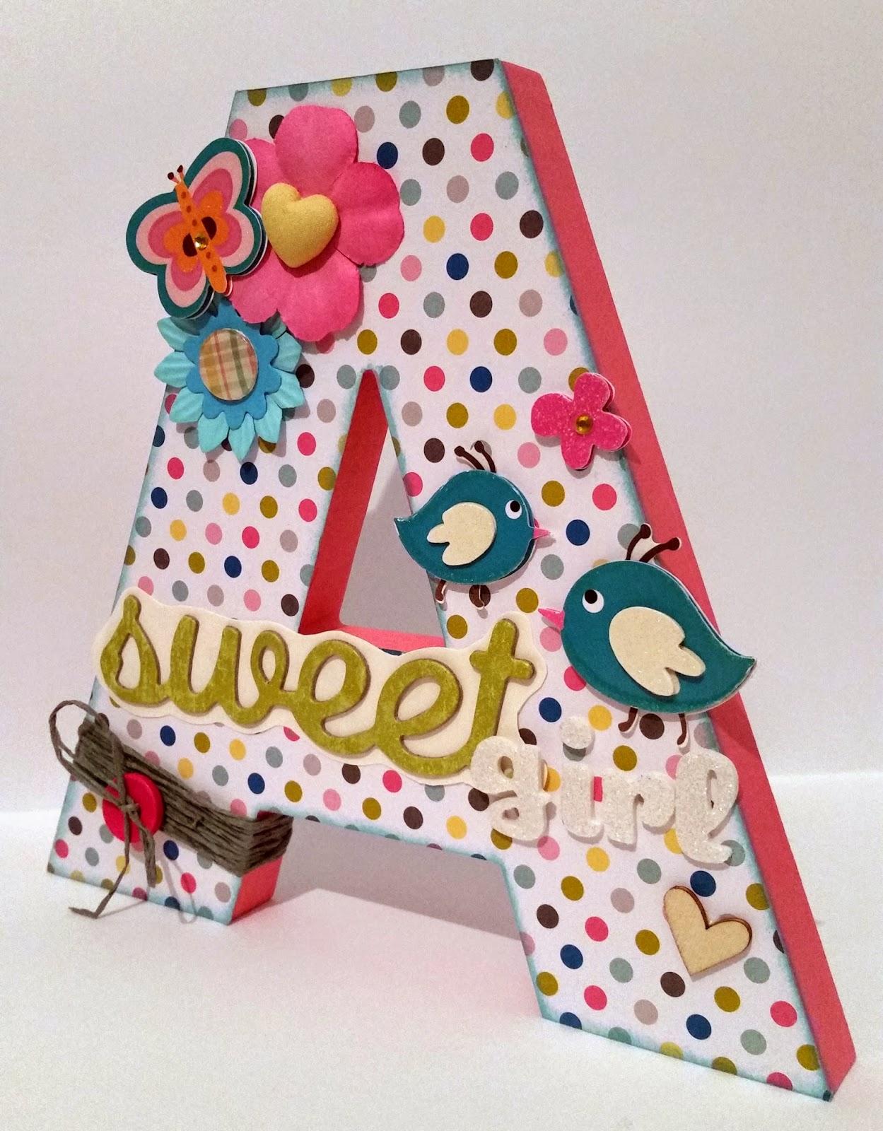 Mad scrap project el taller en casa letra decorada - Letras infantiles para decorar ...
