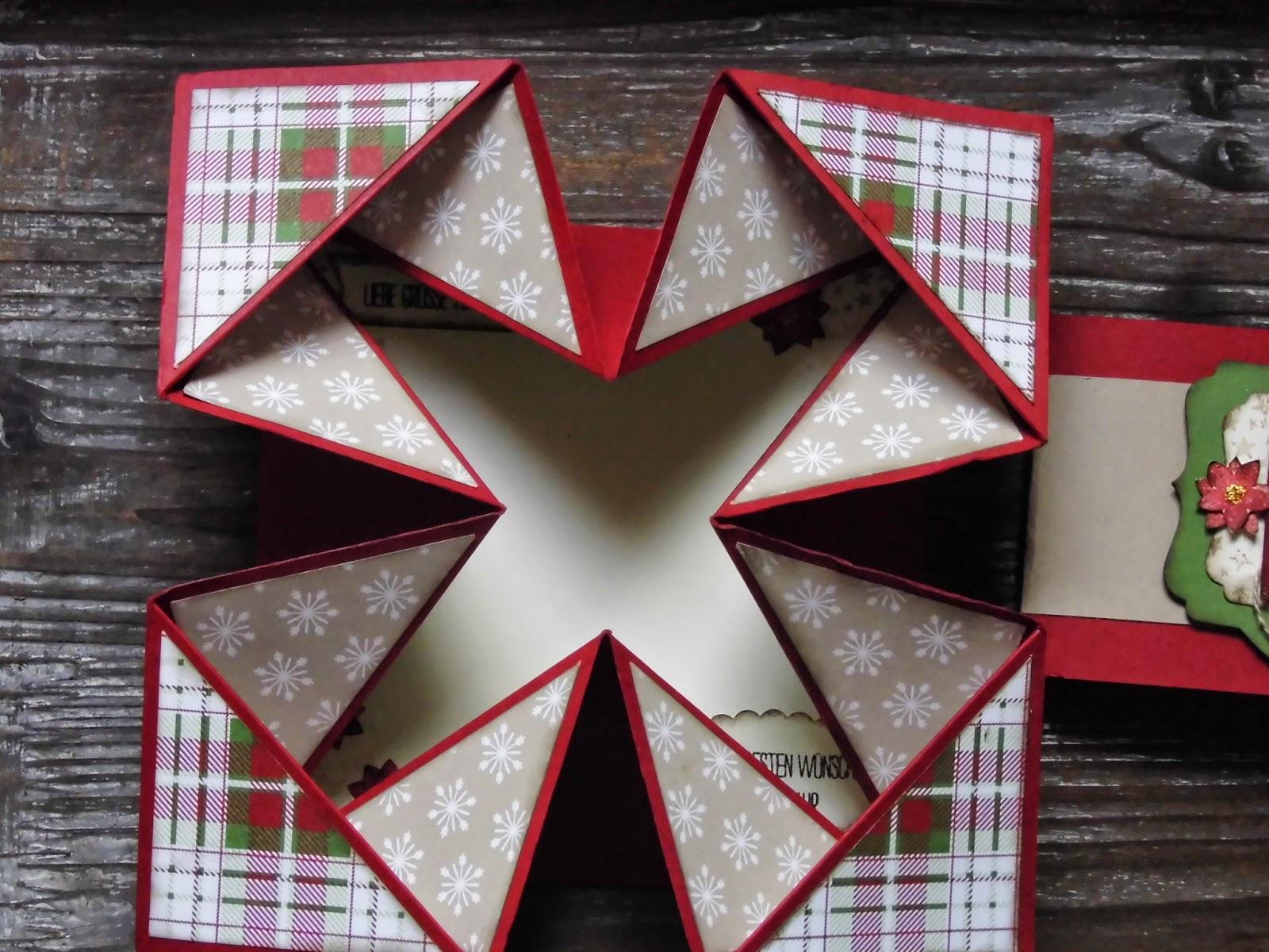 Kreativ am deich besondere faltkarte als - Weihnachtskarten kreativ ...