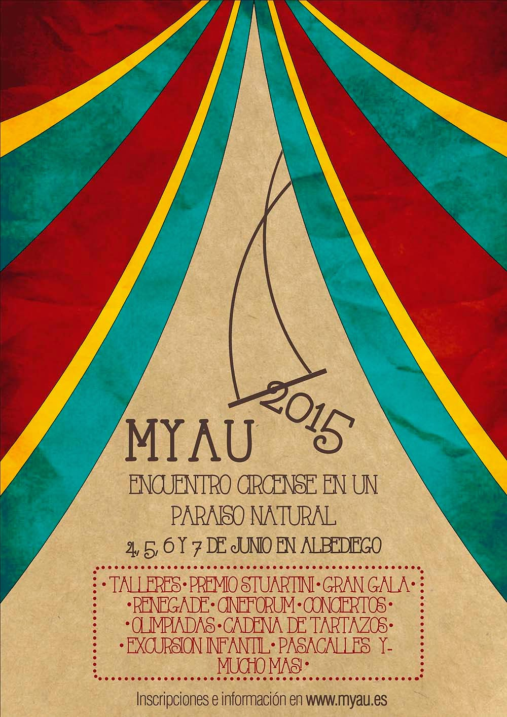 Foto del cartel ganador del 2º Premio concurso de carteles MYAU 2015 de Flor Vazquez