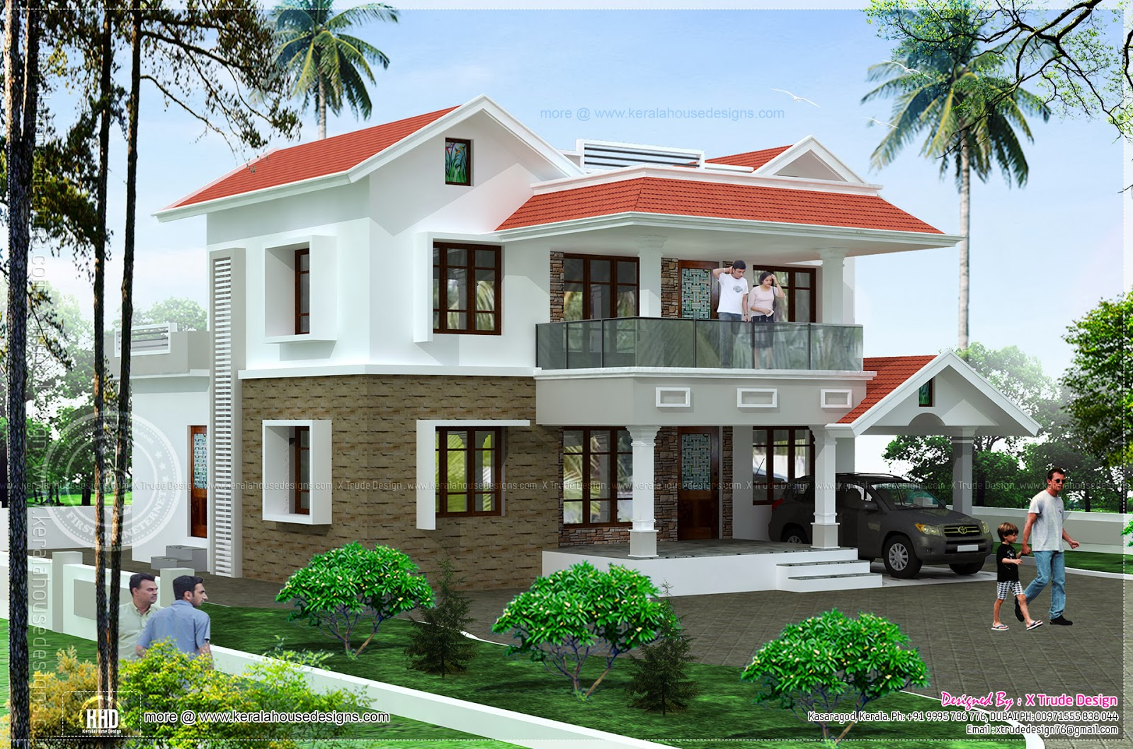 5 Bedroom House Elevation In 2344 Sq Feet Kerala Home