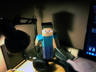Large giant Minecraft Steve paper model template