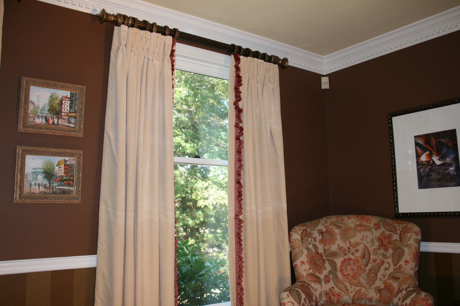 Redecorating dining room window treatments 7 dotty for Dining room window treatments