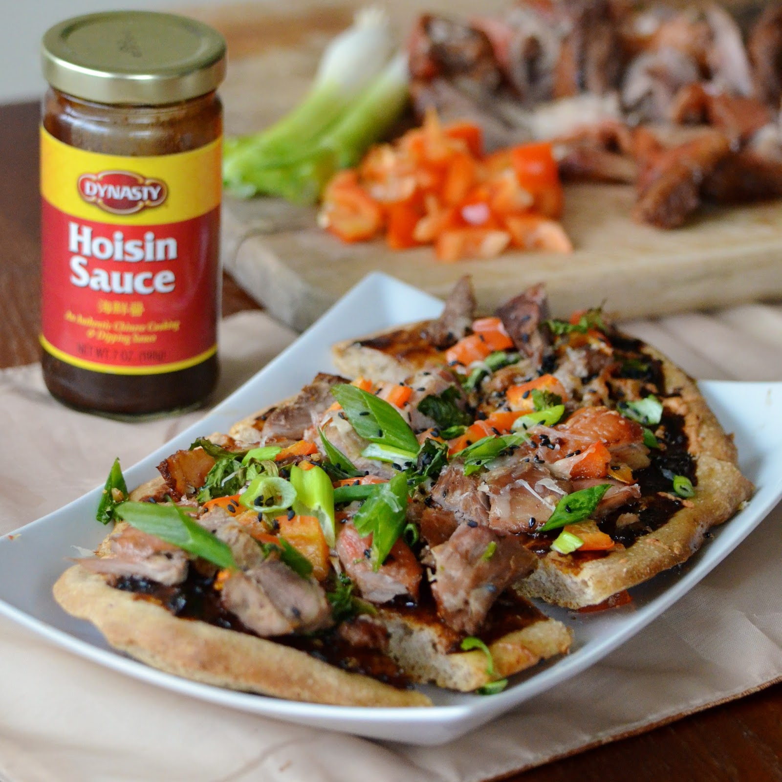 Duck Pizza With Hoisin And Scallions Recipes — Dishmaps
