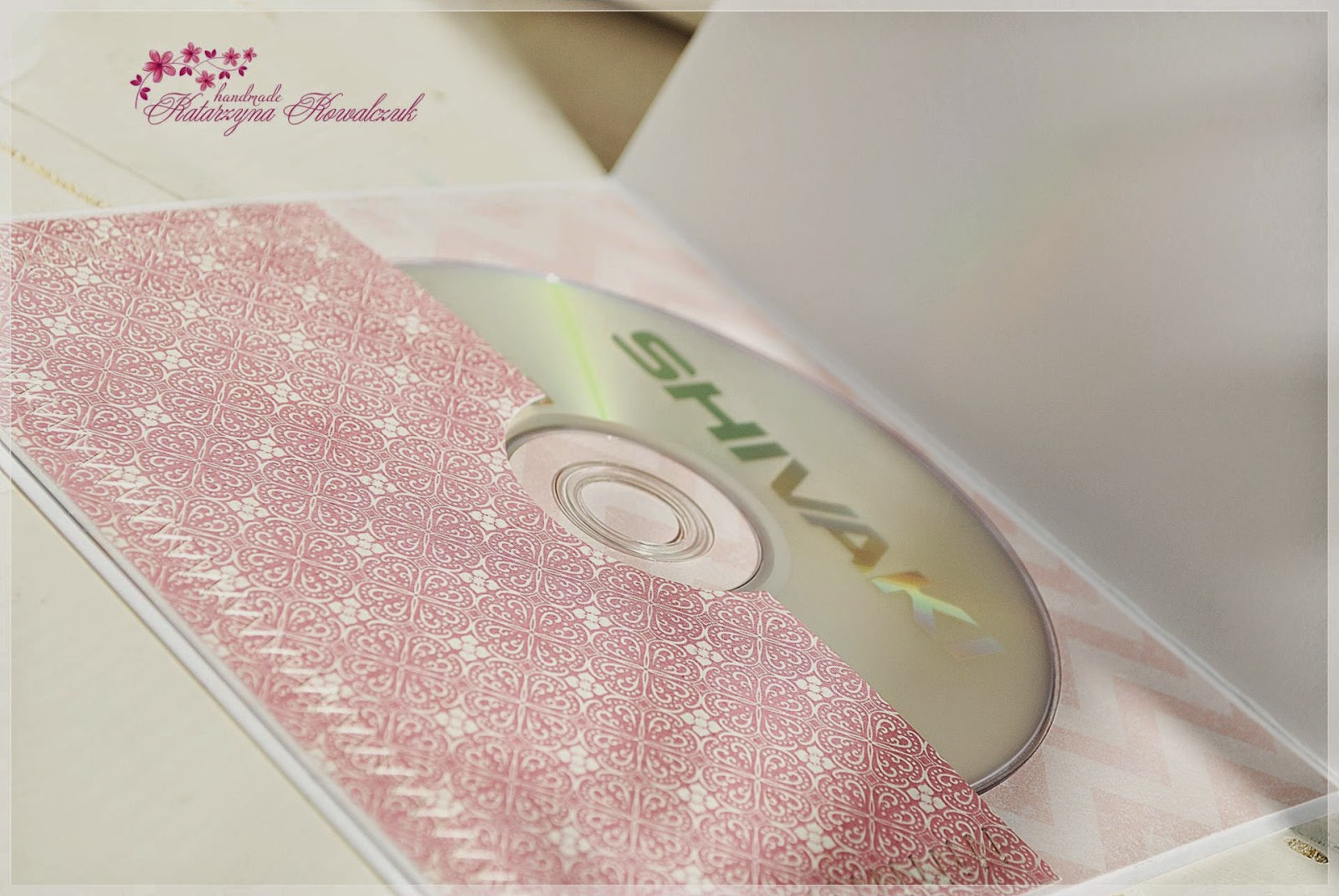 Folder na płytę CD scrapbooking świnka peppa