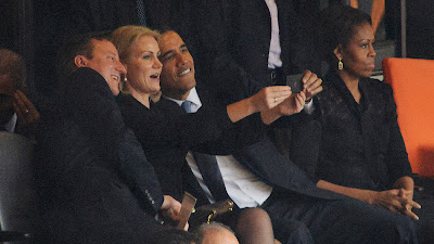 Barack Obama Selfie with Denmark and British Prime Ministers