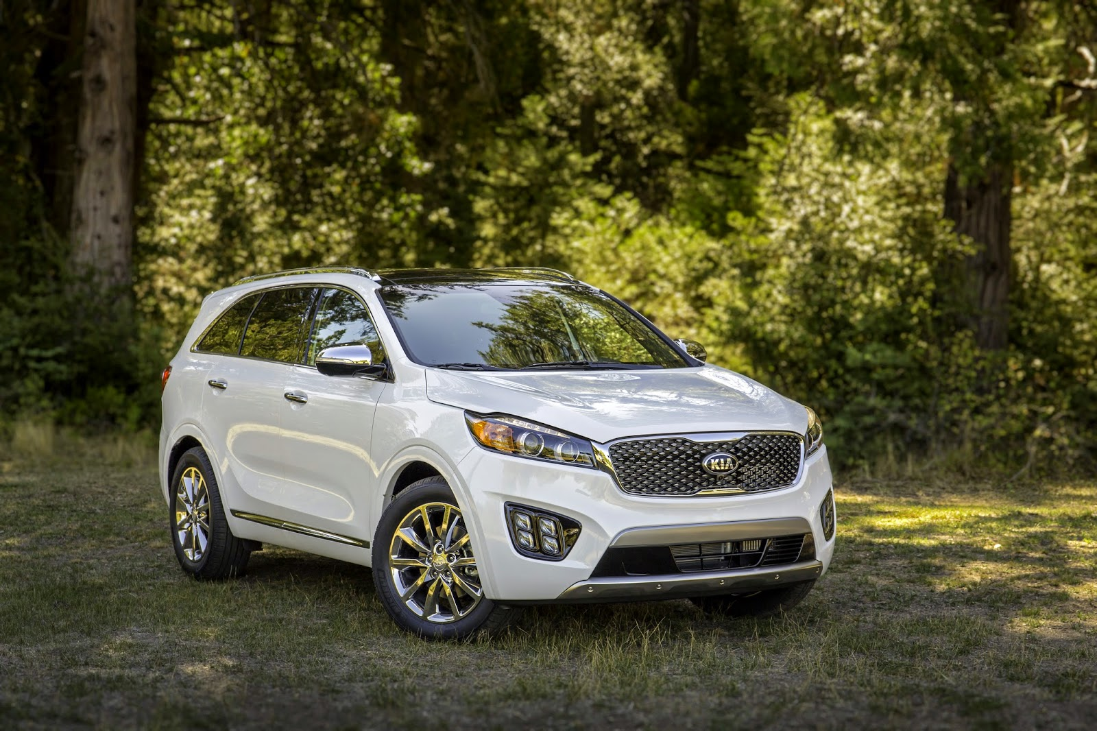 Front 3/4 view of 2016 Kia Sorento Limited V6 AWD front 3/4