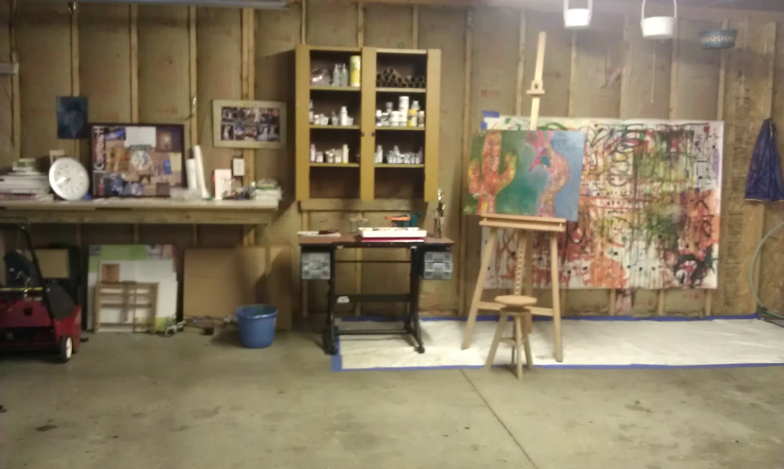One thousand paintings new art studio for Garage with studio