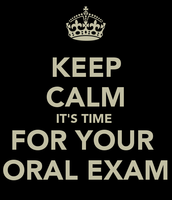 Oral Mock Exam