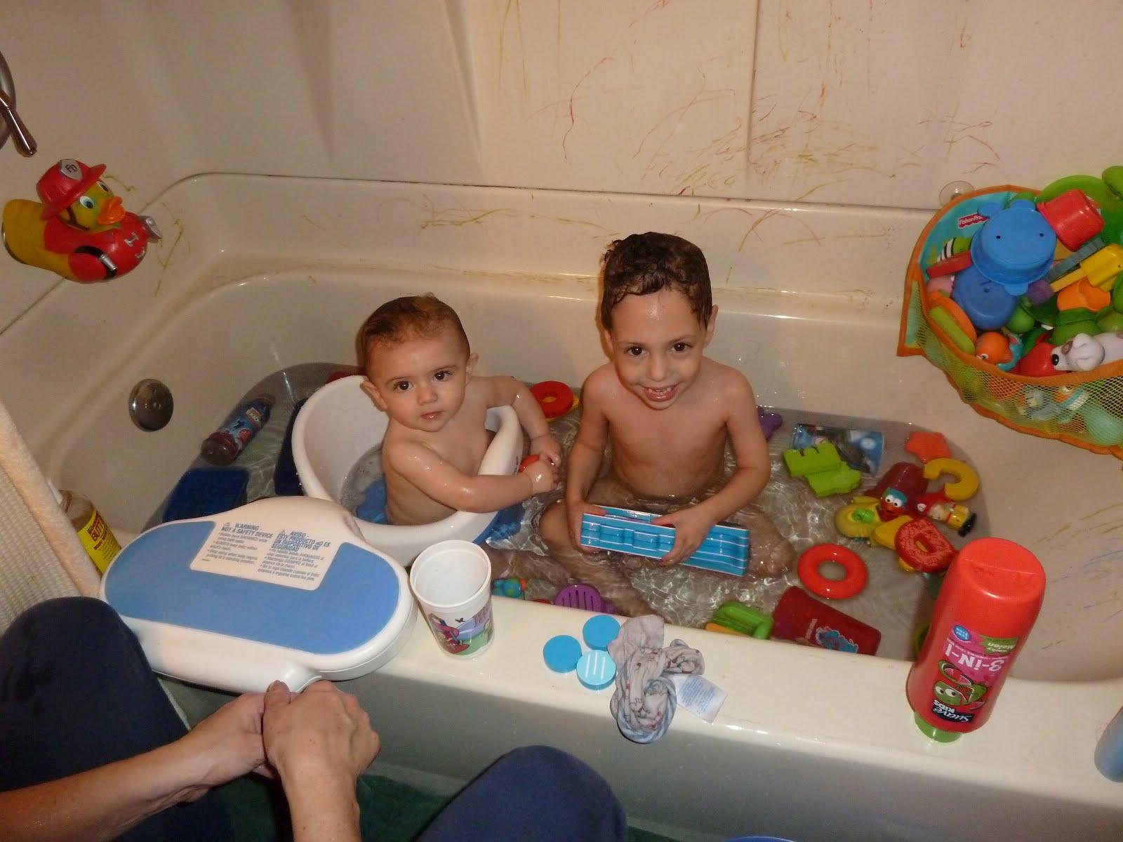 The Newman Family: Bath Time
