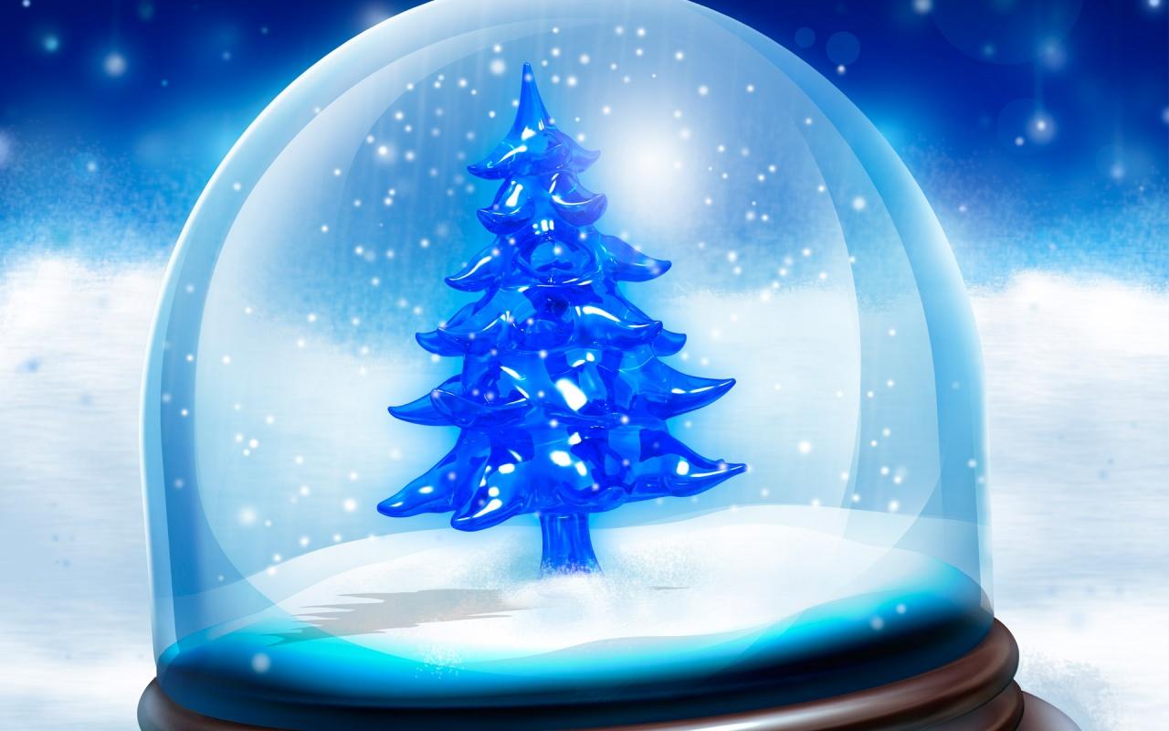 bonito rbol de navidad azul