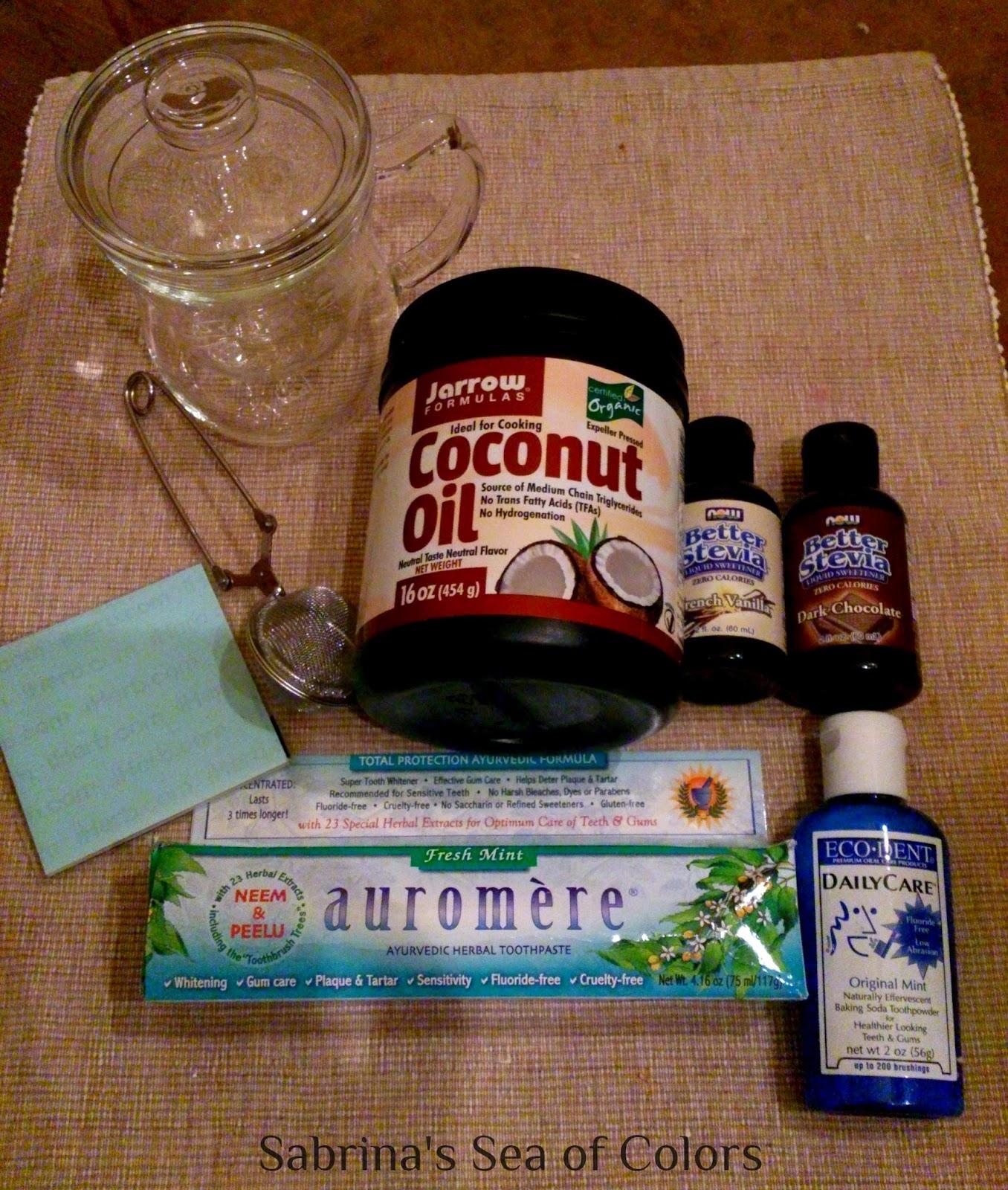 Pasta dental, aceite de coco y stevia iHerb