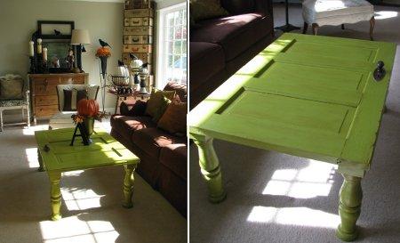 Rosarito brunch puertas recicladas en mesa - Mesas con puertas ...