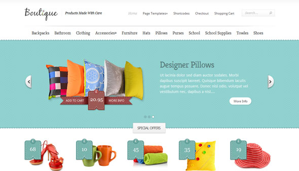 Boutique - Ecommerce WordPress Theme Free Download by ElegantThemes.