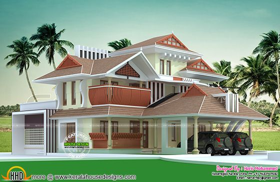 New traditional Kerala home design