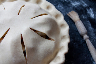 An Apple Pie Being Made