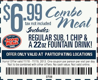 Jersey Mike's Printable Coupon for Nov. 2013