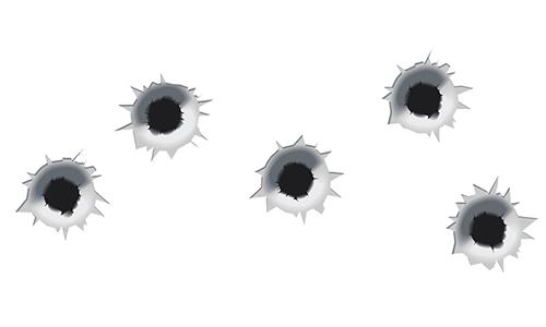 Bullet holes emoticon