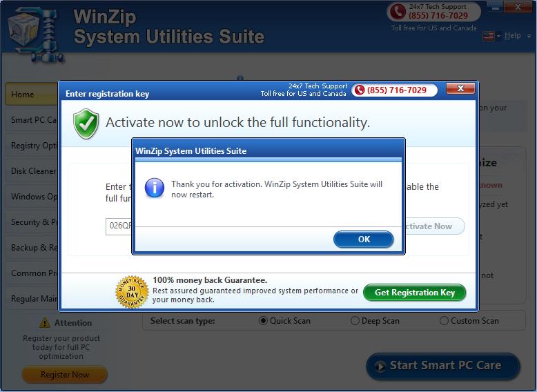 WinZip System Utilities Suite 2.X Full Keygen