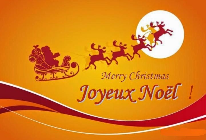 Merry christmas in french french christmas greetings card m4hsunfo