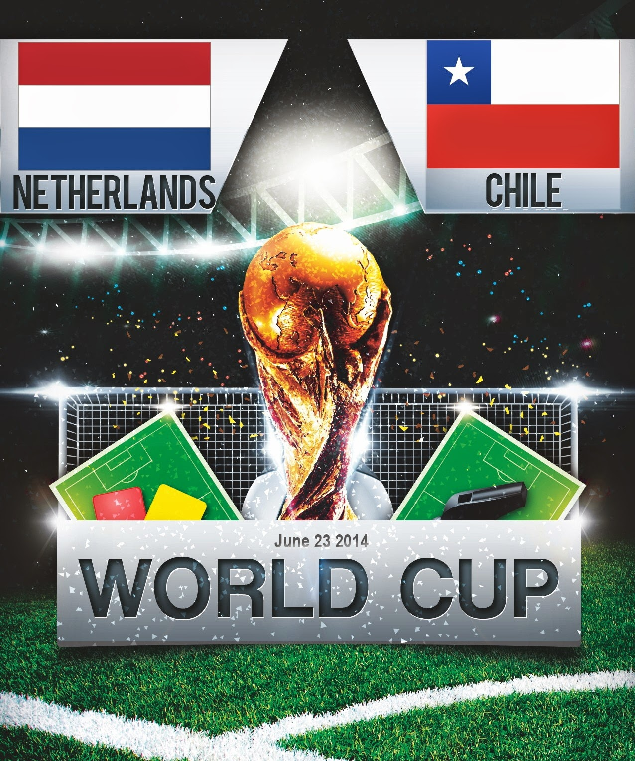 FIFA World Cup 2014 - Netherlands Vs Chile