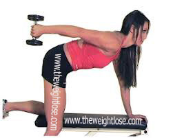 learn how to lose arms fat with help of Triceps Kickback