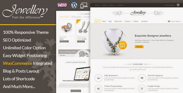 Responsive Jewellery Shop Website Template
