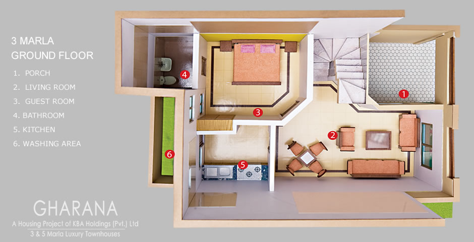 Shahzad: Full house 3D map