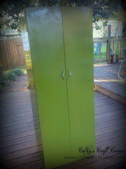 Genial Old 1960u0027s Metal Pantry Cabinet Make Over