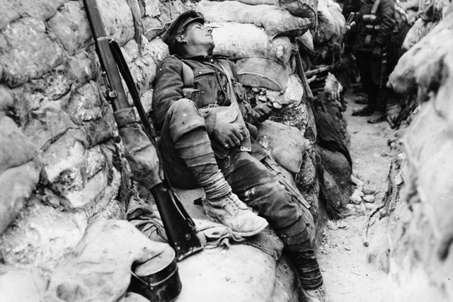 Thievpal, France, 1918. Quietly there, he's sleeping.