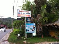 Restaurants in Phuket - Banana Corner in Nai Harn, street