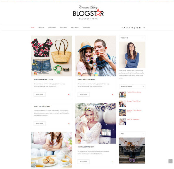 BlogStar – Multi-purpose Personal Blog