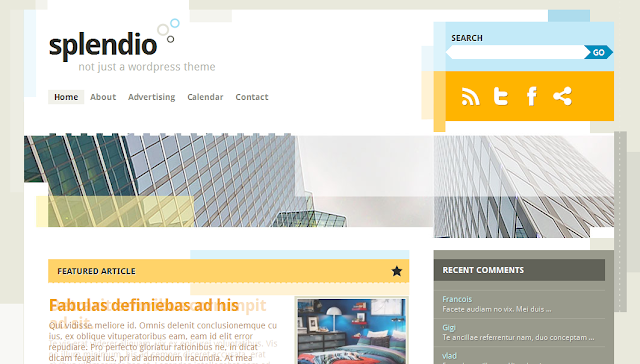 Free WordPress 3.1 Theme Splendio
